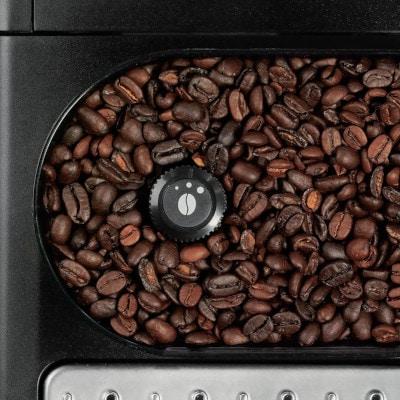 Grains de café dans la cafetiere expresso KRUPS