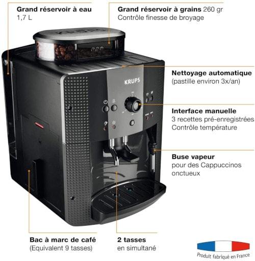 krups yy8125fd essential noir en détails