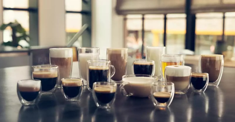 Les différents cafés possible avec une cafetière à grains