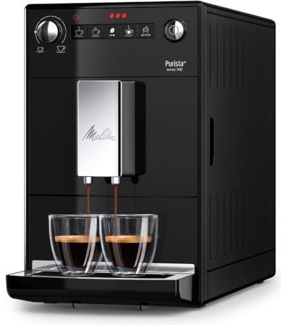 Le design et l'apparence de la cafetiere a grains Melitta purista F230-102 serie 300